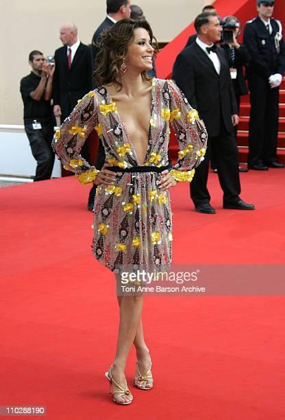Eva Longoria during 2006 Cannes Film Festival 'El Laberinto del Fauno' Premiere at Palais des Festival in Cannes France