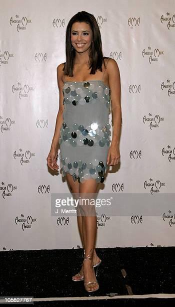 Eva Longoria during 32nd Annual American Music Awards Press Room at Shrine Auditorium in Los Angeles California United States