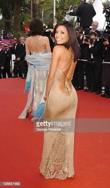 Eva Longoria during Cannes 2005 Film Festival 'Where The Truth Lies' Premiere at Palais Du Festival in Cannes France