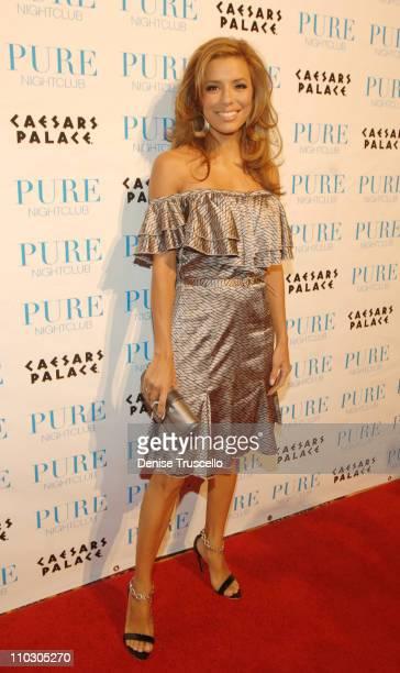 Eva Longoria during Eva Longoria Hosts an Evening at PURE Nightclub at Caesars Palace Hotel and Casino Resort Red Carpet Arrivals at PURE Nightclub...