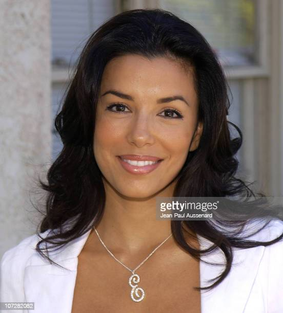 Eva Longoria during Glamour Magazine and Maserati Present The 'Exclusive Beauty Lounge' Hosted by Josie Maran to Benefit Ecolutions at Donicia...