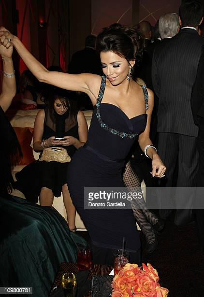 Eva Longoria during In Style and Warner Bros. 2007 Golden Globe After Party - Inside at Beverly Hilton Hotel in Beverly Hills, California, United...