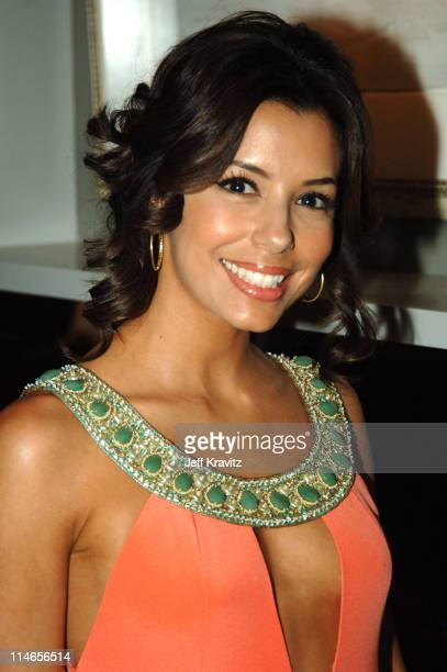 Eva Longoria *Exclusive Coverage* during 57th Annual Primetime Emmy Awards Backstage Audience and Architectural Digest Green Room at The Shrine in...