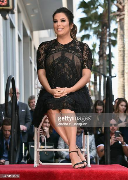 Eva Longoria is honored with star on The Hollywood Walk of Fame on April 16 2018 in Hollywood California