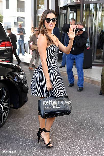 Eva Longoria is seen arriving at Hotel Martinez during the annual 69th Cannes Film Festival at on May 10, 2016 in Cannes, France.