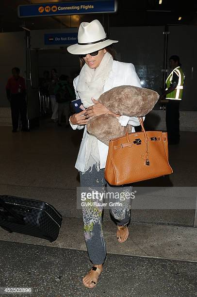 Eva Longoria is seen at LAX on July 21 2014 in Los Angeles California