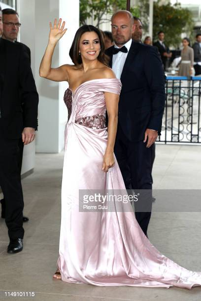 Eva Longoria is seen at the Martinez Hotel during the 72nd annual Cannes Film Festival at on May 14, 2019 in Cannes, France.
