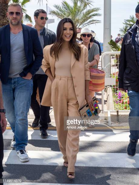 Eva Longoria is seen during the 72nd annual Cannes Film Festival on May 16, 2019 in Cannes, France.