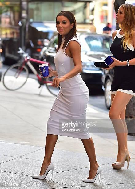 Eva Longoria is seen in Midtown on May 11, 2015 in New York City.