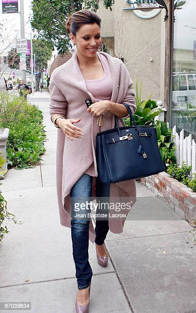Eva Longoria is seen in West Hollywood on February 24 2010 in Los Angeles California