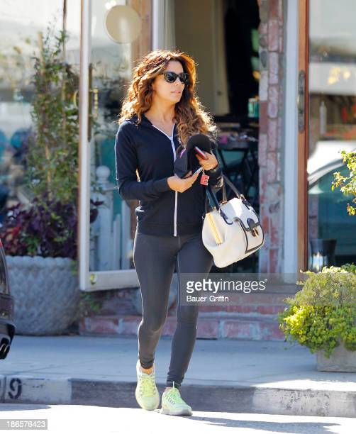 Eva Longoria is seen leaving a salon on November 01 2013 in Los Angeles California