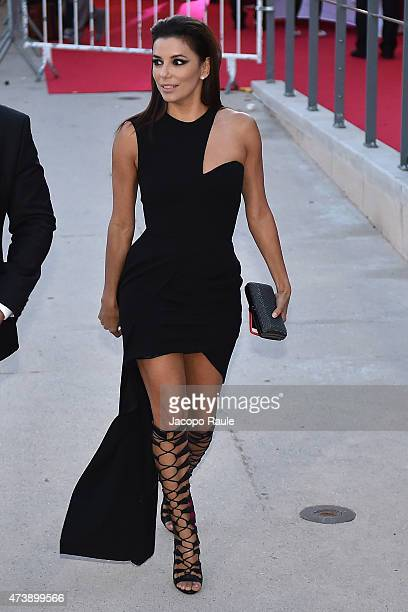 Eva Longoria is seen on day 6 of the 68th annual Cannes Film Festival on May 18 2015 in Cannes France