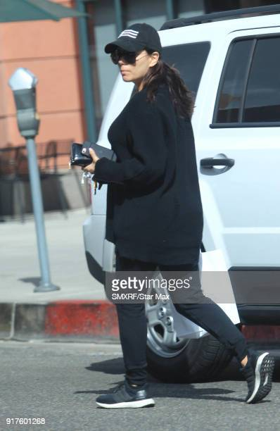 Eva Longoria is seen on February 12 2018 in Los Angeles California