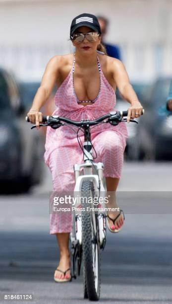 Eva Longoria is seen on July 18 2017 in Marbella Spain
