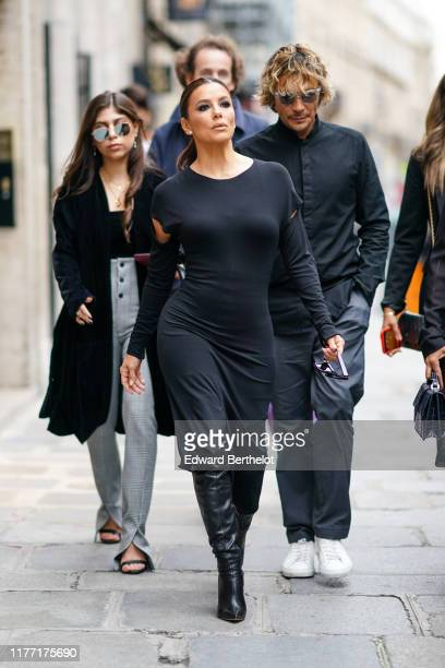 Eva Longoria is seen outside Guy Laroche during Paris Fashion Week Womenswear Spring Summer 2020 on September 25 2019 in Paris France