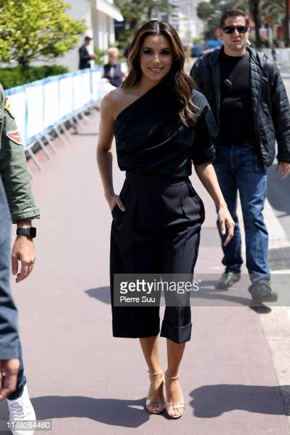 Eva Longoria is seen strolling on the croisette during the 72nd annual Cannes Film Festival at on May 15, 2019 in Cannes, France.