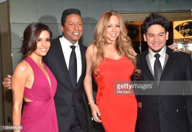 Eva Longoria, Jermaine Jackson, Mariah Carey, Prince Azim of Brunei at an event in London, 2011.