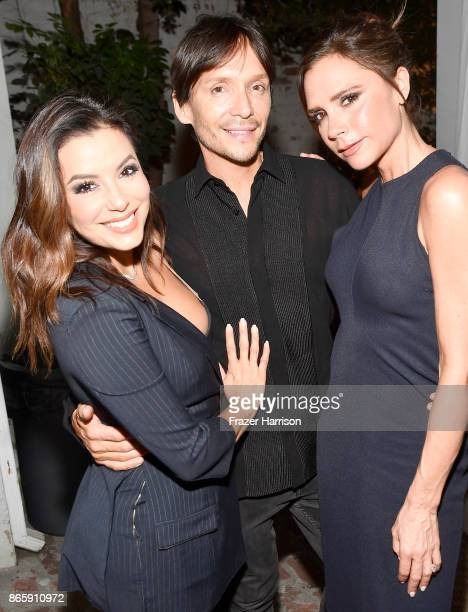 Eva Longoria Ken Paves and Victoria Beckham at the grand opening of the new Ken Paves Salon hosted by Eva Longoria on October 23 2017 in Los Angeles...