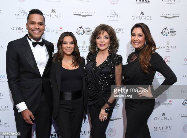 Eva Longoria Maxwell Dame Joan Collins and Maria Bravo attend The Global Gift gala held at the Corinthia Hotel on November 18 2017 in London England
