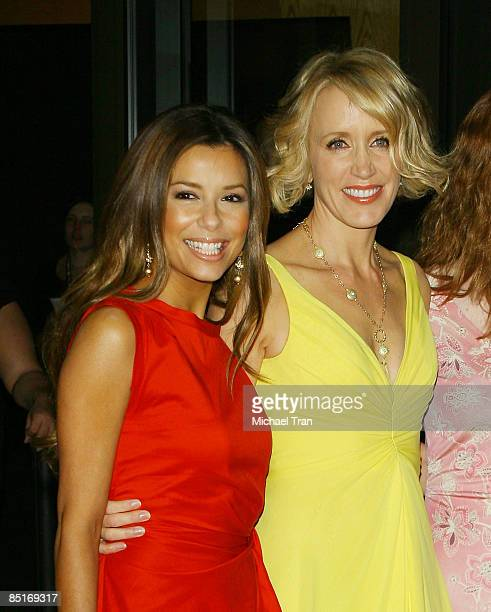 """Eva Longoria Parker and Felicity Huffman arrive to Los Angeles screening of """"Phoebe In Wonderland"""" held at the WGA Theatre on March 1, 2009 in..."""