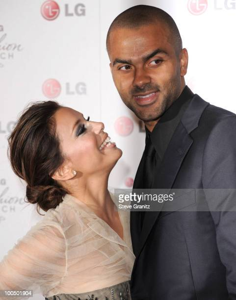 Eva Longoria Parker and Tony Parker attends A Night Of Fashion Technology With LG Mobile Phones Hosted By Victoria Beckham Eva Longoria at Soho House...