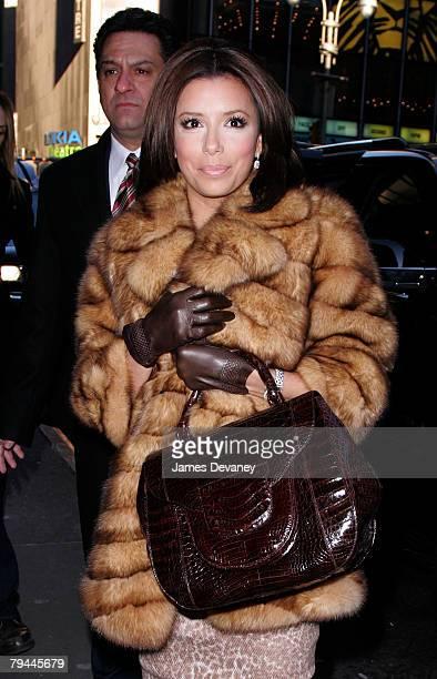 Eva Longoria Parker arrives to ABC's Times Square GMA studio in New York City on January 31 2008