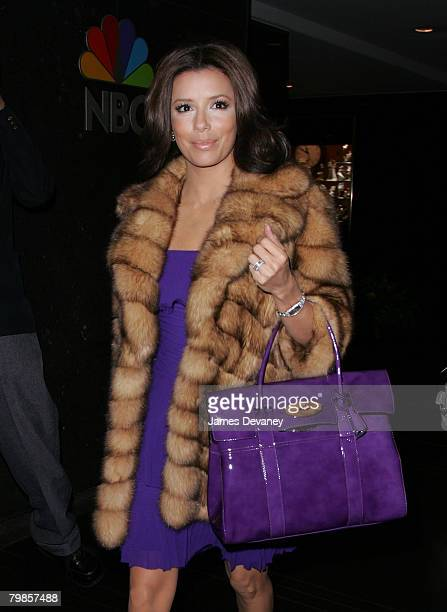 Eva Longoria Parker arrives to NBC's Rockefeller Center in New York City on January 31 2008