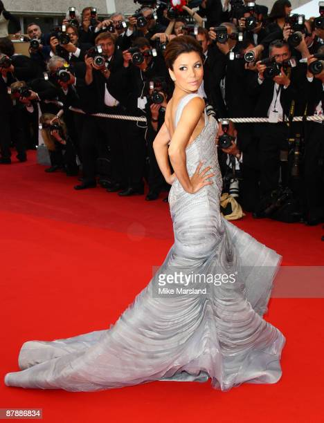 Eva Longoria Parker attends the 'Bright Star' premiere at the Grand Theatre Lumiere during the 62nd Annual Cannes Film Festival on May 15 2009 in...