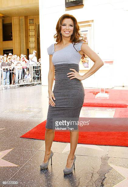 Eva Longoria Parker attends the ceremony honoring the 100th Anniversary Of L'Oreal Beauty with a star on the Hollywood Walk of Fame on October 20...