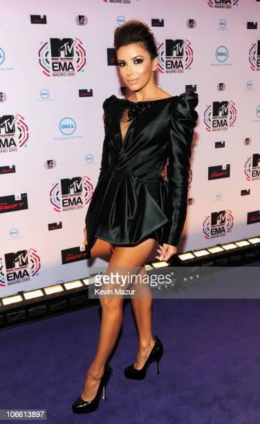 Eva Longoria Parker attends the MTV Europe Music Awards 2010 at La Caja Magica on November 7, 2010 in Madrid, Spain.