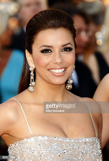 Eva Longoria Parker attends the Premiere of 'On Tour' at the Palais des Festivals during the 63rd Annual International Cannes Film Festival on May 13...