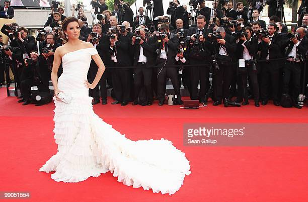 Eva Longoria Parker attends the Robin Hood Premiere at the Palais des Festivals during the 63rd Annual Cannes Film Festival on May 12 2010 in Cannes...