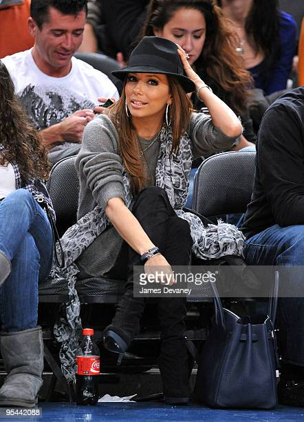 Eva Longoria Parker attends the San Antonio Spurs vs New York Knicks game at Madison Square Garden on December 27 2009 in New York City
