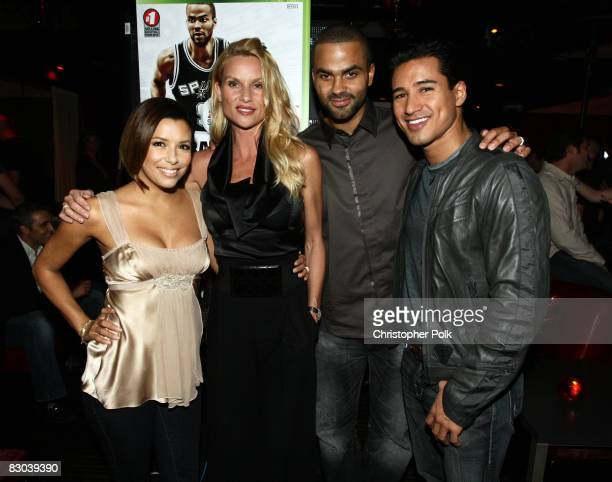 """Eva Longoria Parker, Nicollette Sheridan, Tony Parker and Mario Lopez at the VIP Launch Party of EA Sports """"NBA Live '09"""" hosted by Tony Parker at..."""