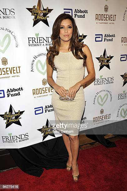 Eva Longoria Parker poses for a picture at the Friends Without A Border Gala Benefit held at The Roosevelt Hotel on December 10 2009 in Los Angeles...