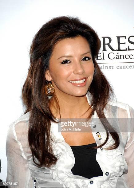 Eva Longoria Parker the National Spokeswoman for PADRES Contra El Cancer attends the $20000000 check presentation to PADRES Contra El Cancer on March...