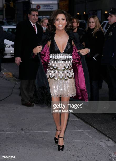 Eva Longoria Parker visits The Late Show with David Letterman at Ed Sullivan Theatre in New York City on January 31 2008