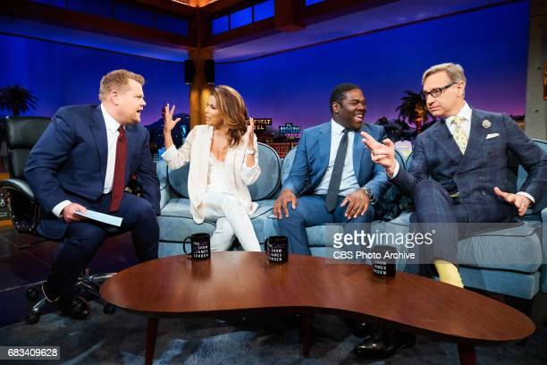 Eva Longoria Sam Richardson and Paul Feig chat with James Corden during 'The Late Late Show with James Corden' Tuesday May 9 2017 On The CBS...