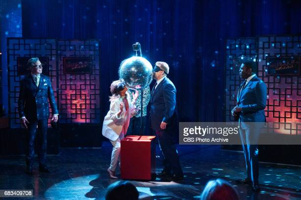 Eva Longoria Sam Richardson and Paul Feig play Nuzzle Whaaa with James Corden during 'The Late Late Show with James Corden' Tuesday May 9 2017 On The...