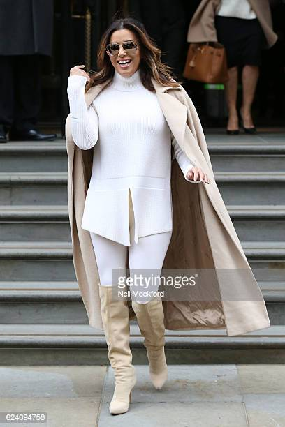 Eva Longoria seen leaving her hotel before heading to the ITV Studios to appear on Loose Women on November 18 2016 in London England