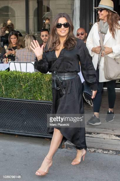 Eva Longoria seen walking in Paris France on September 24 2018