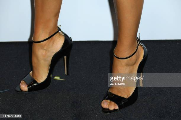 Eva Longoria shoe detail attends The Brent Shapiro Foundation for Drug Prevention Summer Spectacular Gala at The Beverly Hilton Hotel on September 21...