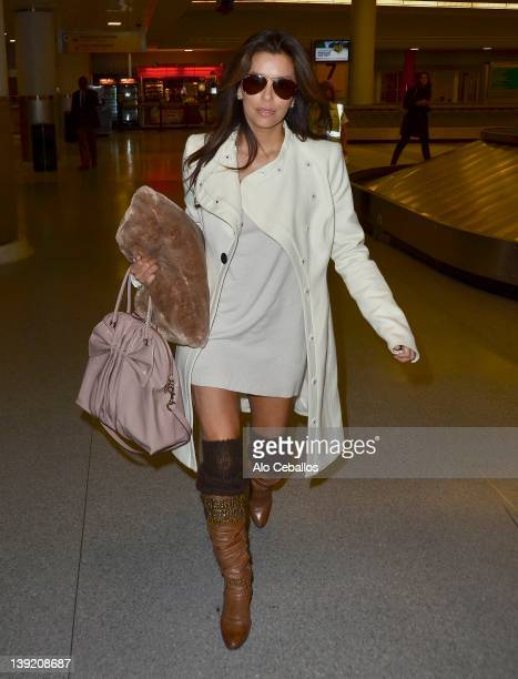 Eva Longoria sighting on February 17 2012 in New York City