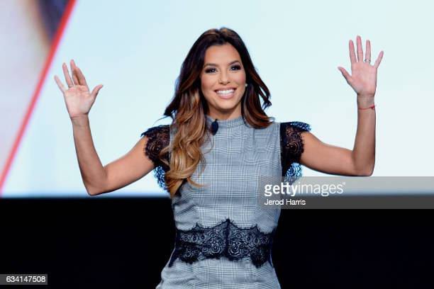 Eva Longoria speaks on stage at The 2017 MAKERS Conference at Terranea Resort and Spa on February 7 2017 in Rancho Palos Verdes California