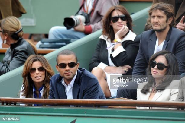 Eva LONGORIA / Tony PARKER / Isabelle ADJANI / Bixente LIZARAZU / Claire KEIM Finale Simple Roger FEDERER / Robin SODERLING Roland Garros 2009 Paris