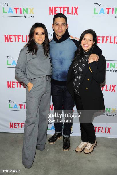 Eva Longoria Wilmer Valderrama and America Ferrera attends The Latinx House And Netflix Host Their Joint Kickoff Party At The 2020 Sundance Film...