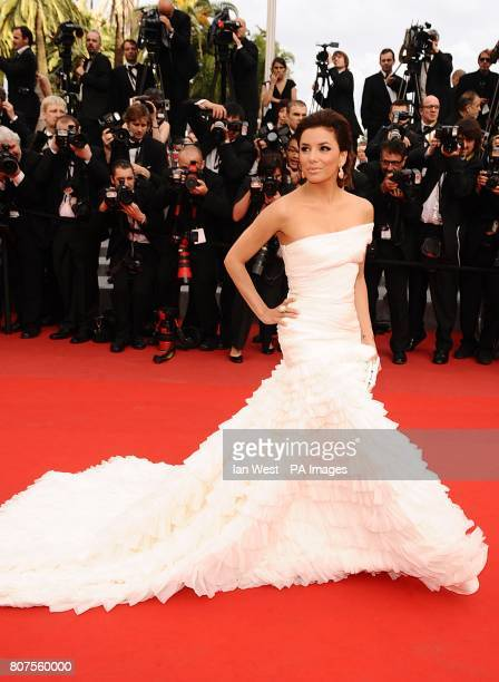 Eva LongoriaParker arriving for the official Robin Hood screening at the Palais de Festival during the 63rd Cannes Film Festival France