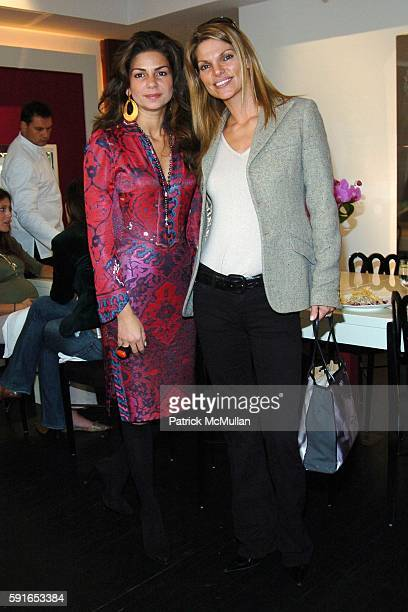 Eva Lorenzotti and Andrea Hisson attend Launch of Garrard's New Pearl Collection High Days and Holidays hosted by Jade Jagger at Garrard on November...
