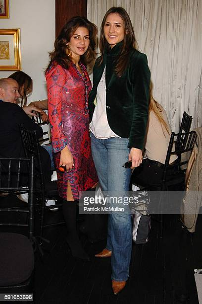 Eva Lorenzotti and Zani Gugelmann attend Launch of Garrard's New Pearl Collection High Days and Holidays hosted by Jade Jagger at Garrard on November...
