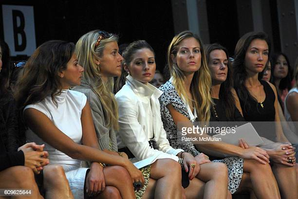 Eva Lorenzotti Eleanor Ylvisaker Olivia Palermo Ferebee Bishop Taube Annie Churchill and Olivia Chantecaille attend MALO Spring 2008 Collection at...